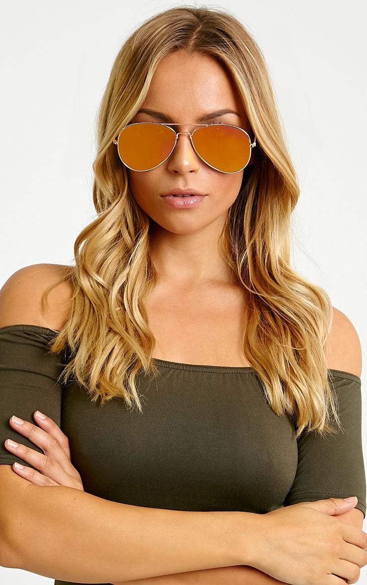 Tresa Red Lense Aviator Sunglasses 3