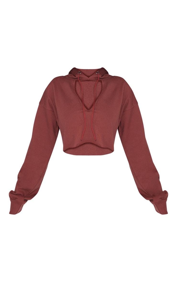 Shape Chocolate Open Neck Hoodie 3