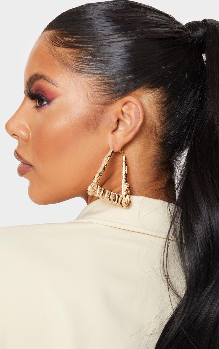 Gold Buckle Detail Trial Hoop Earrings 1