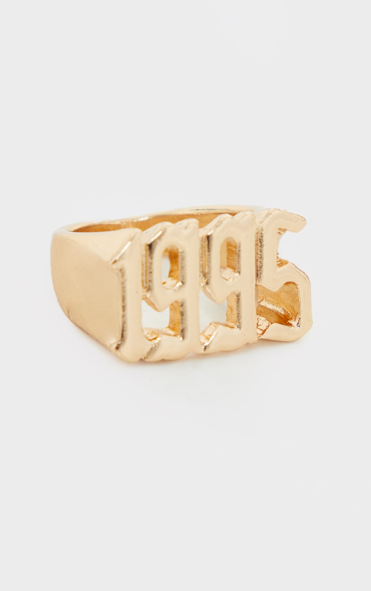 1995 Gothic Font Ring 2