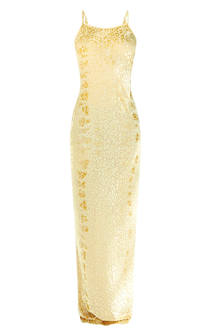 Tall Yellow Burnt Out Strappy Maxi 5