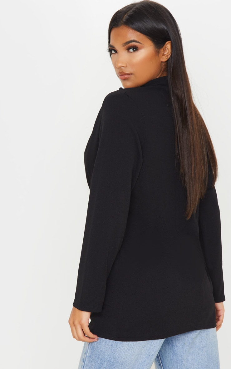 Black Oversized Boyfriend Blazer 2