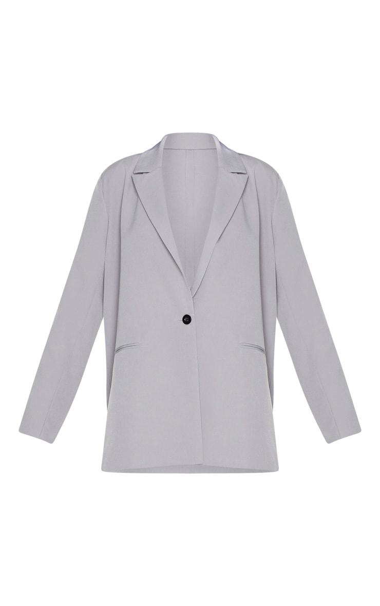 Grey Oversized Dad Blazer 3