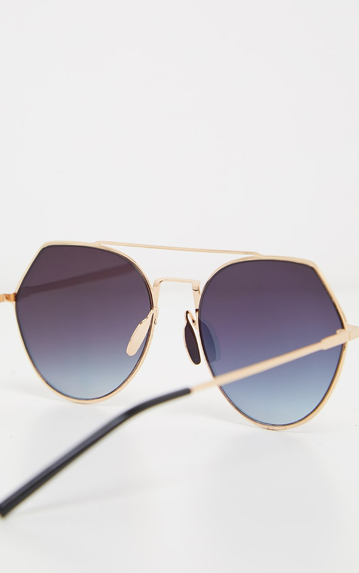 Pink Angled Corner Aviator Sunglasses 4