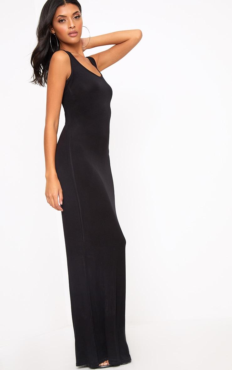Basic Black Maxi Dress 4