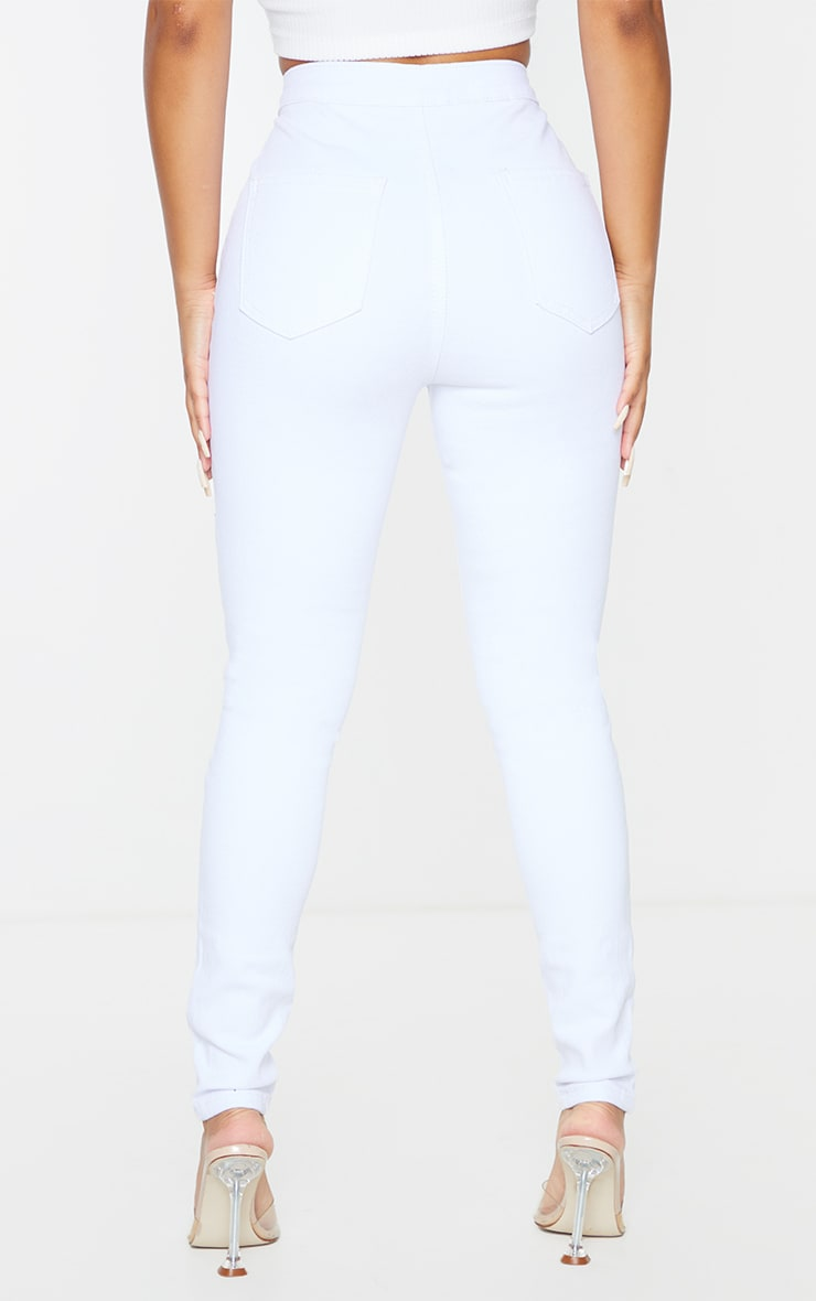 Petite White High Rise Skinny Jeans  3