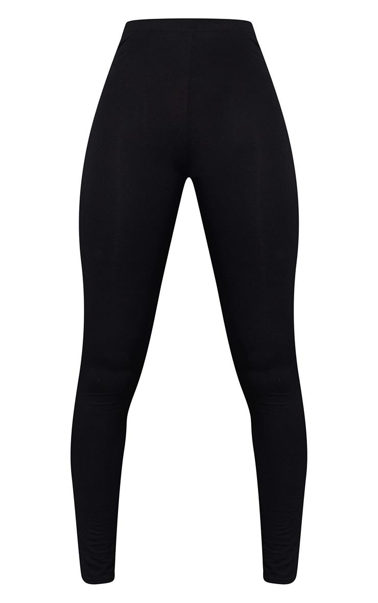 Tall Black Basic Jersey Leggings 5