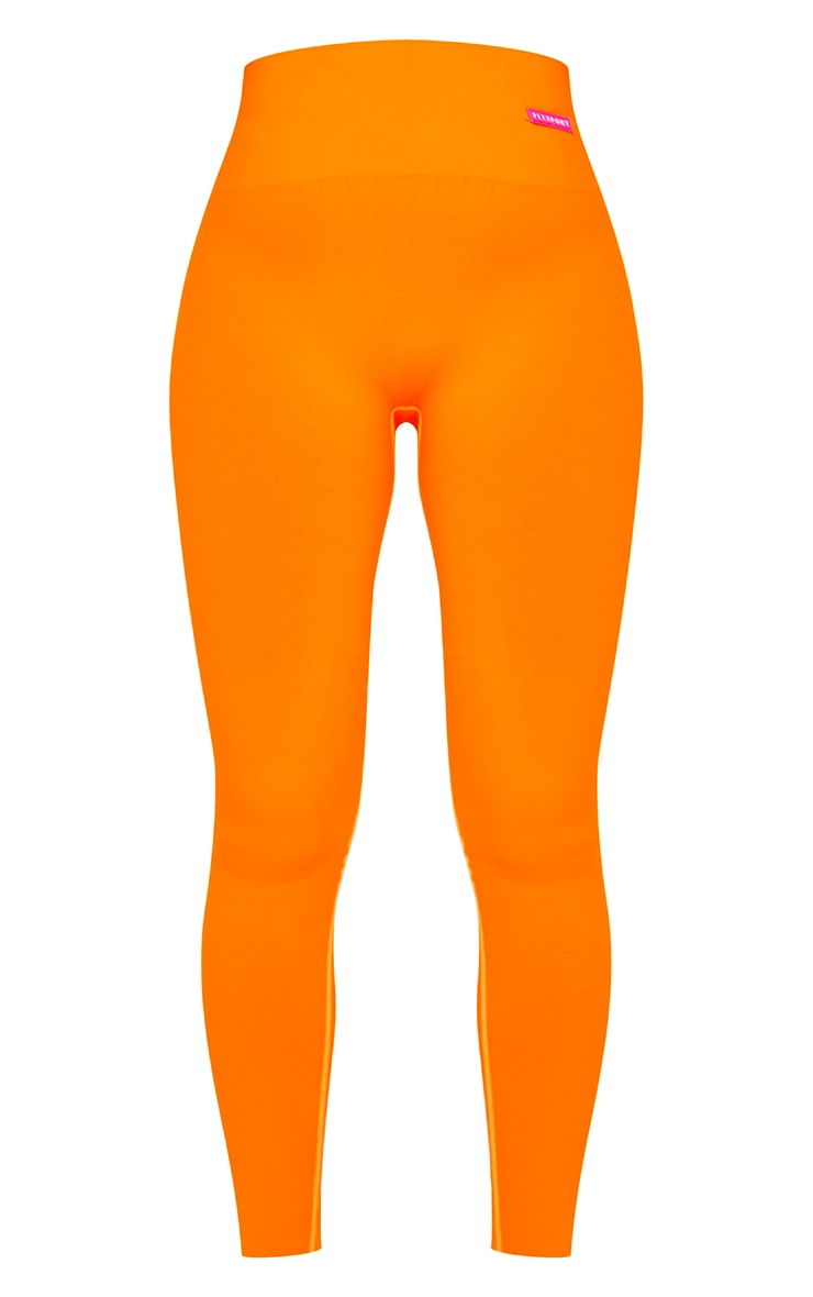 Tangerine Basic Seamless Badge High Waist Gym Leggings 5