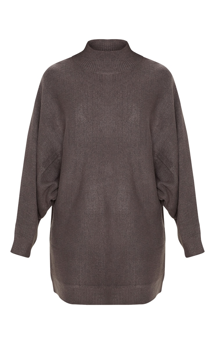 Charcoal Knitted Jumper Dress 3