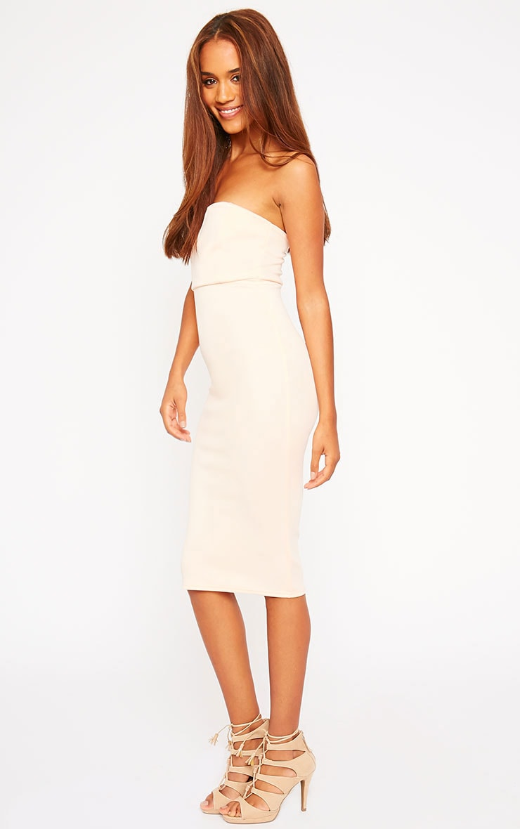 Zenda Nude Bandeau Midi Dress 3