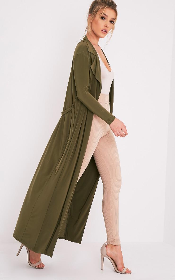 Stella Khaki Slinky Waterfall Jacket 1
