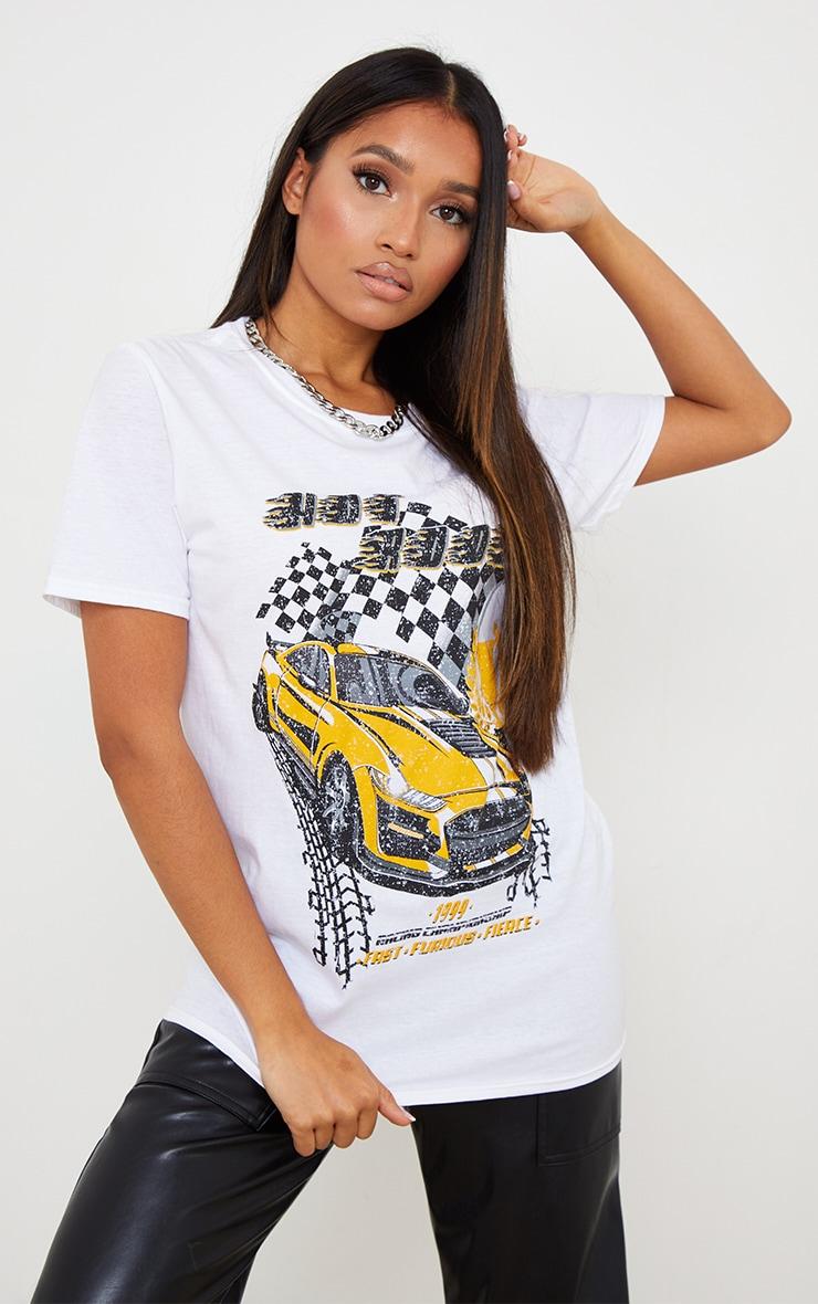 Petite White Low Rider T Shirt 1