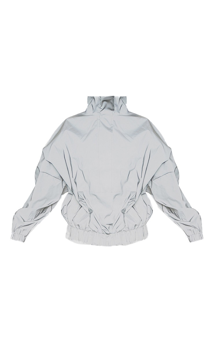 Grey Reflective Oversized Windbreaker 3