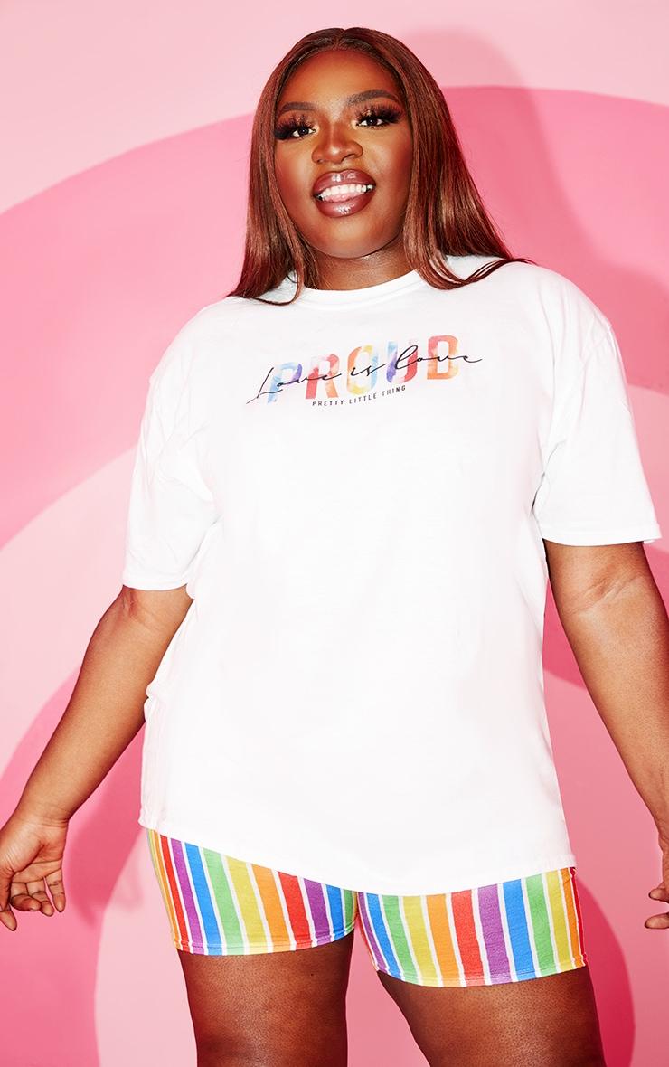Plus White Love Is Love T Shirt