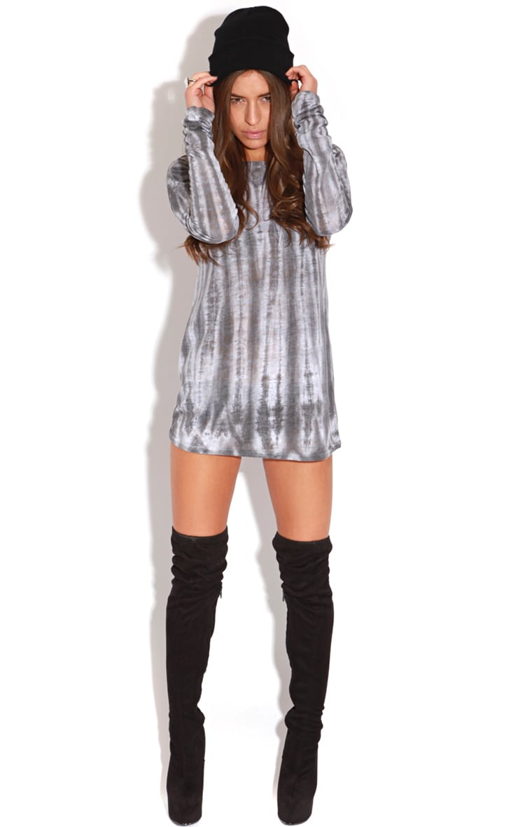Kari Grey Tie Dye Long Sleeve Top-S/M 4