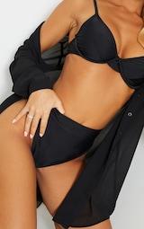 Recycled Black Mix & Match High Waisted High Leg Bikini Bottoms 4