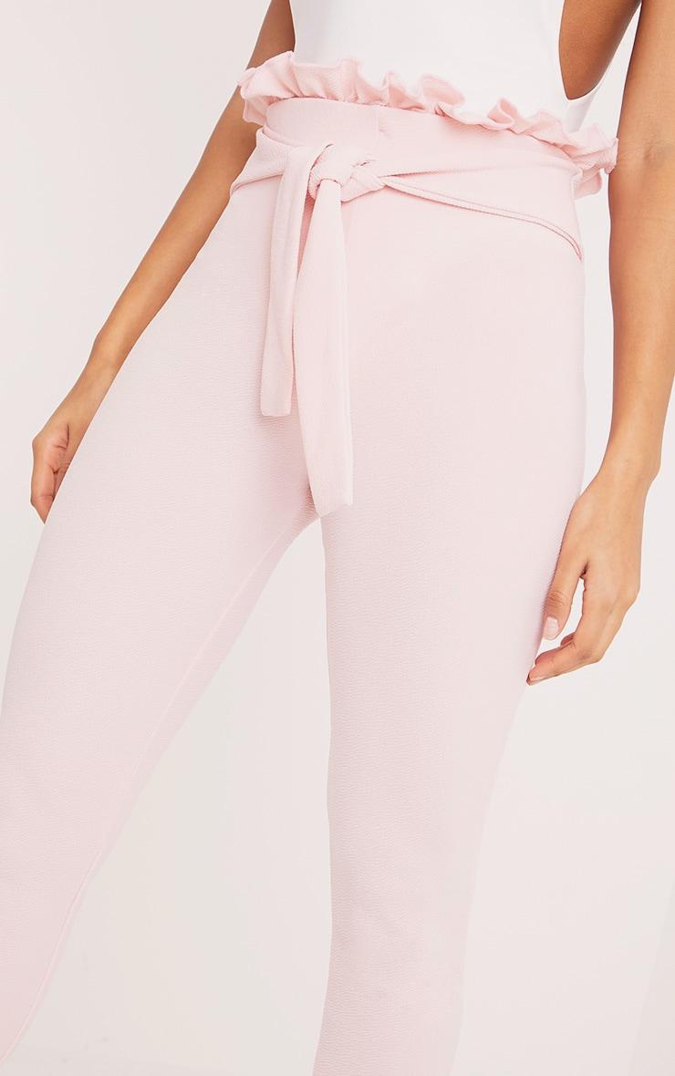 Perlita Pink Paperbag Skinny Trousers 5