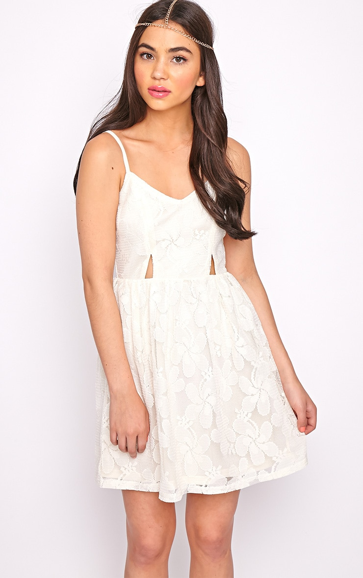 Lissy Cream Lace Skater Dress 5