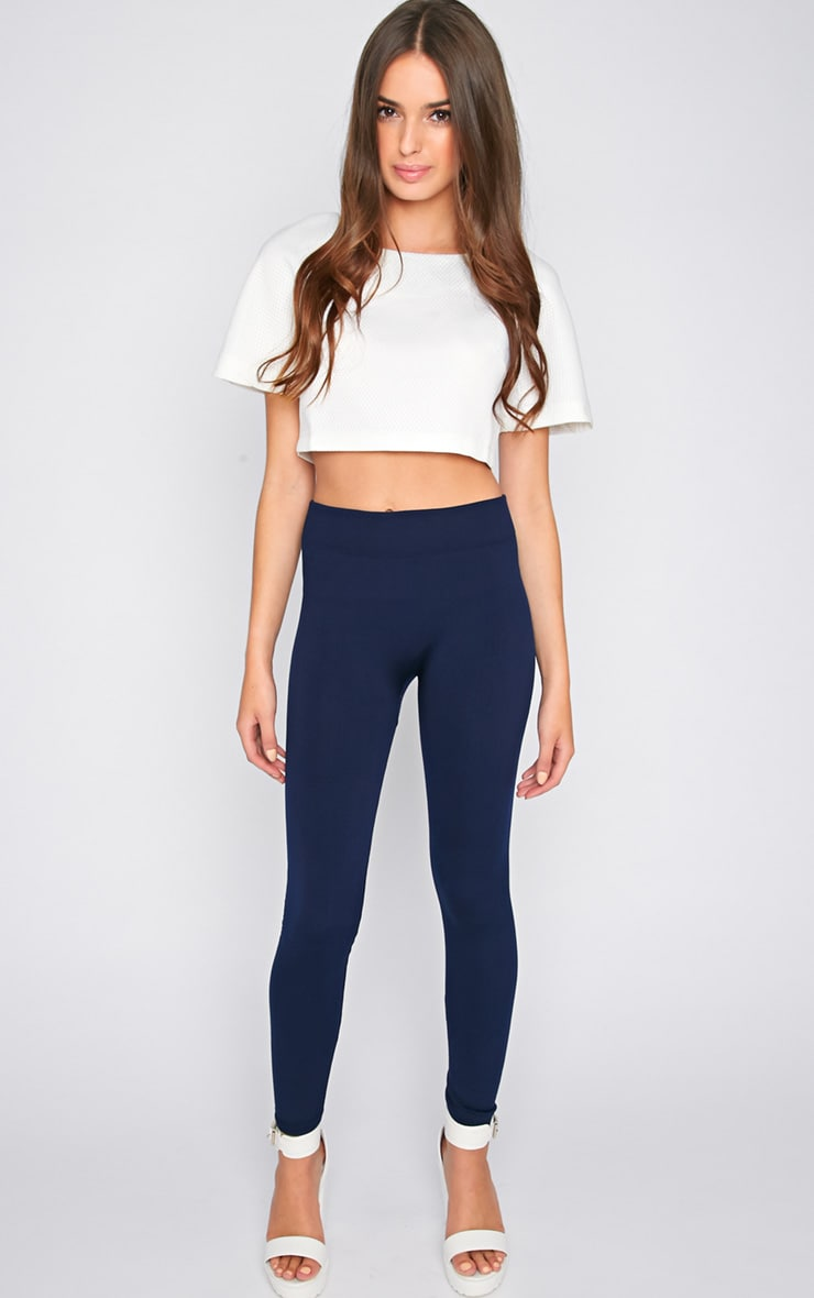 Becca Navy Blue Leggings  1