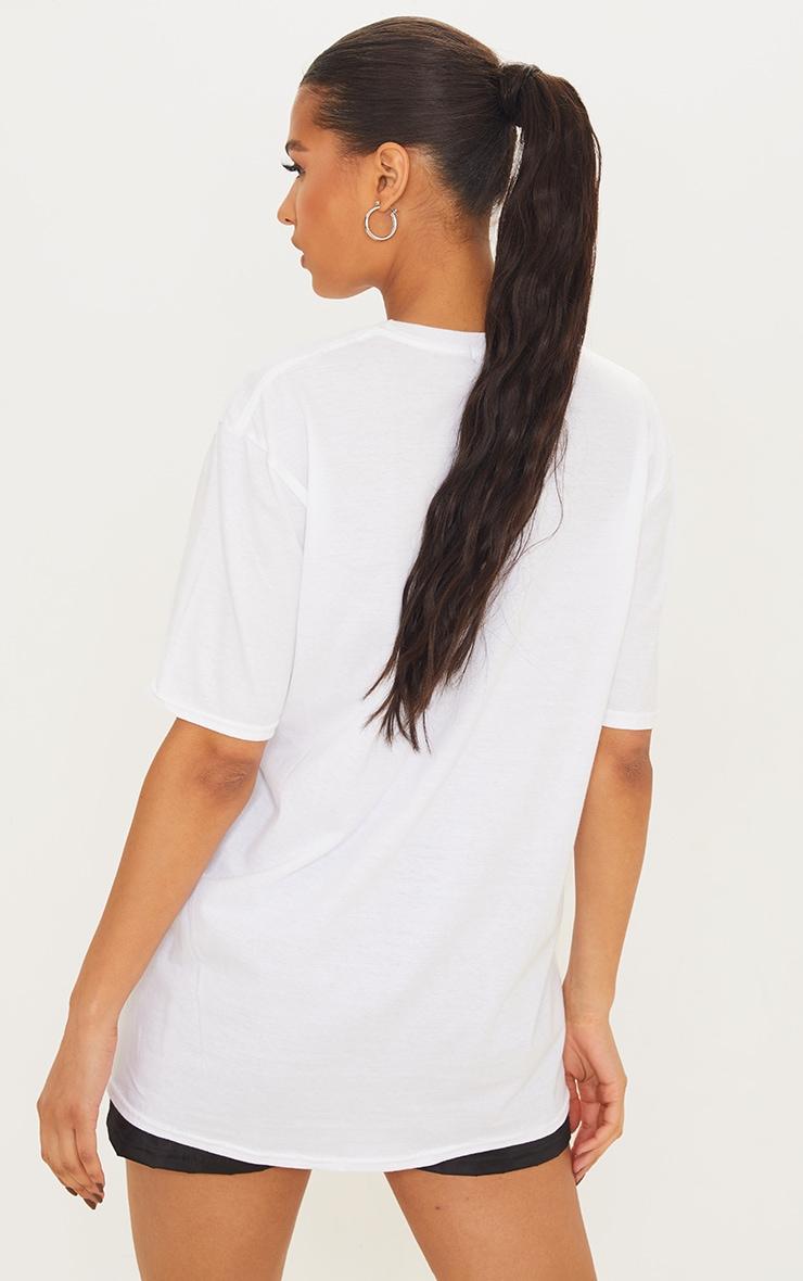 White Santa Monica T Shirt 2