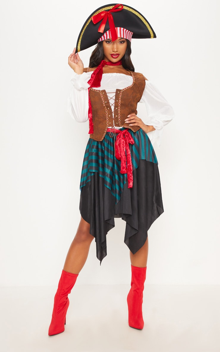 Pirate Lady Halloween Fancy Dress Outfit 1