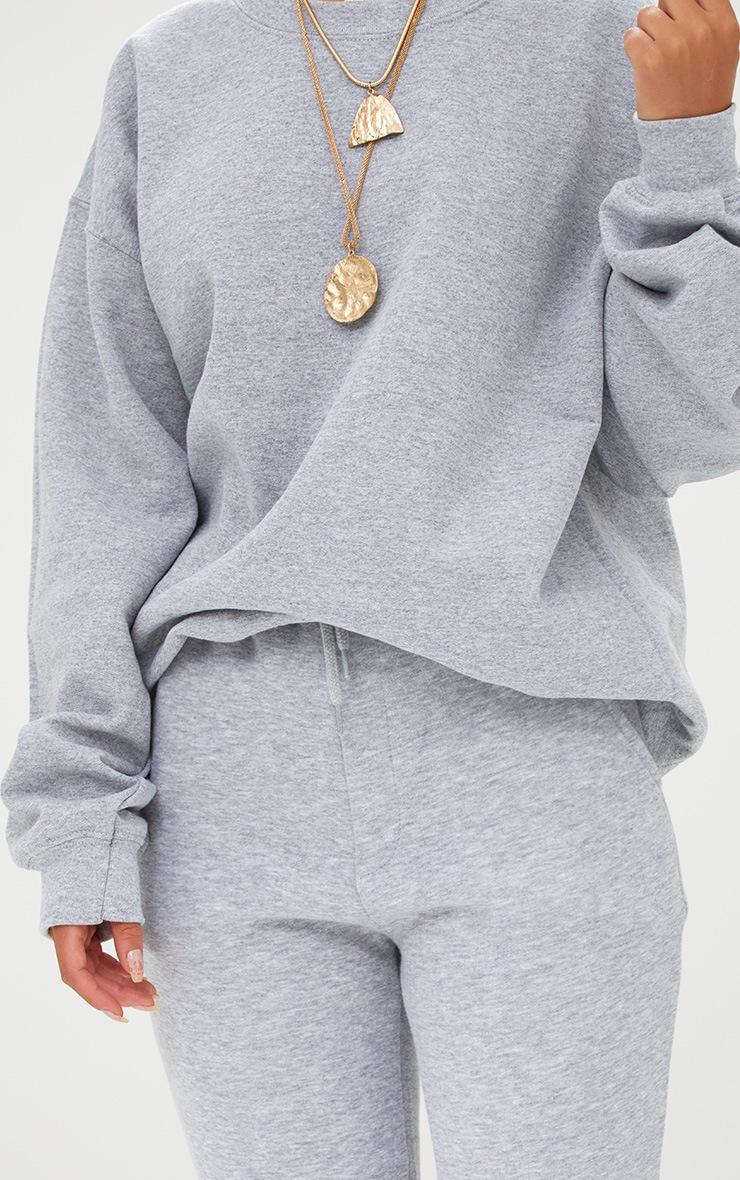 e4fe32901be62f Grey Marl Ultimate Oversized Sweater image 5