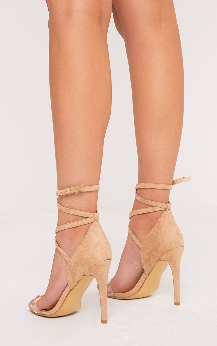 Renice Nude Strappy Heeled Sandals 4