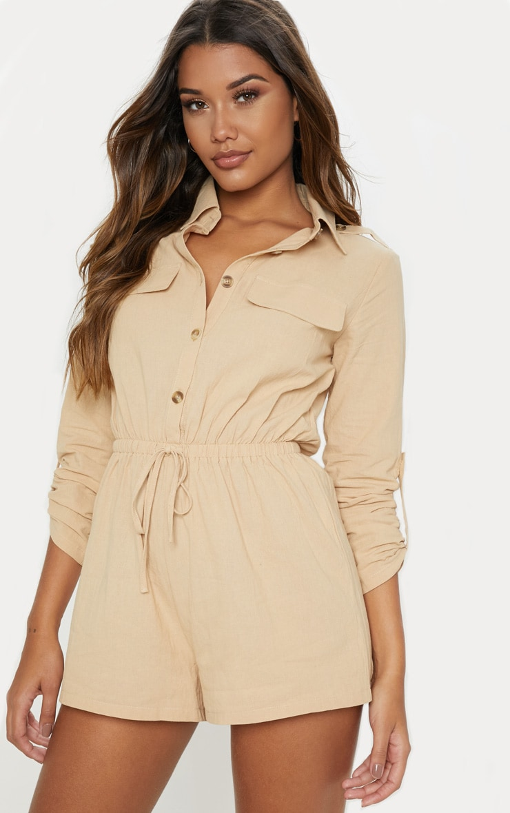 Stone Cargo Pocket Playsuit 1