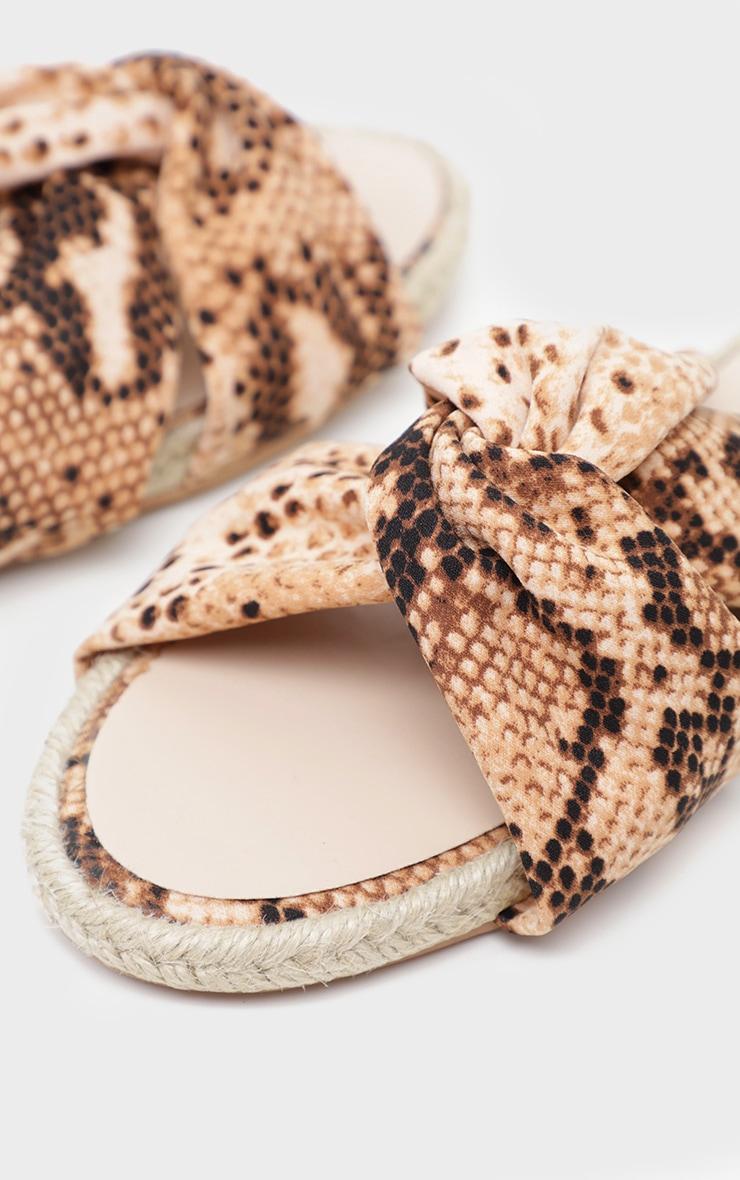 Snake Satin Mule Espadrille Sandal 4