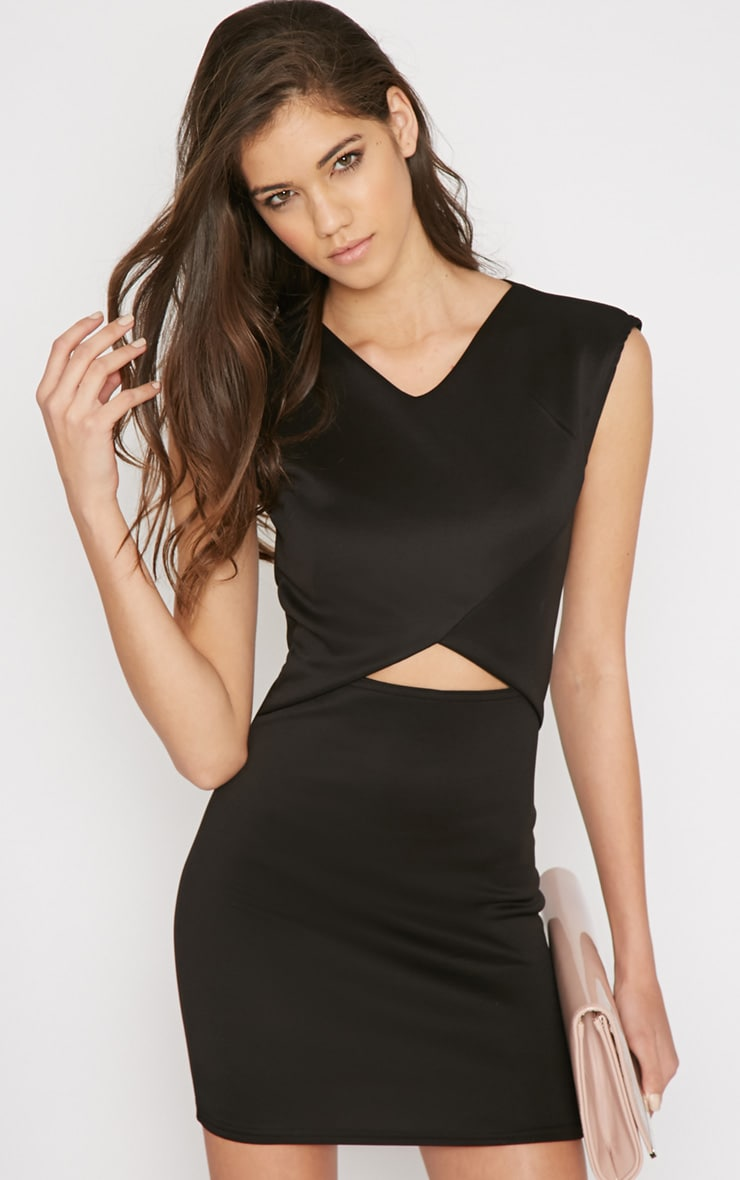 Itzel Black Cut Out Mini Dress 3