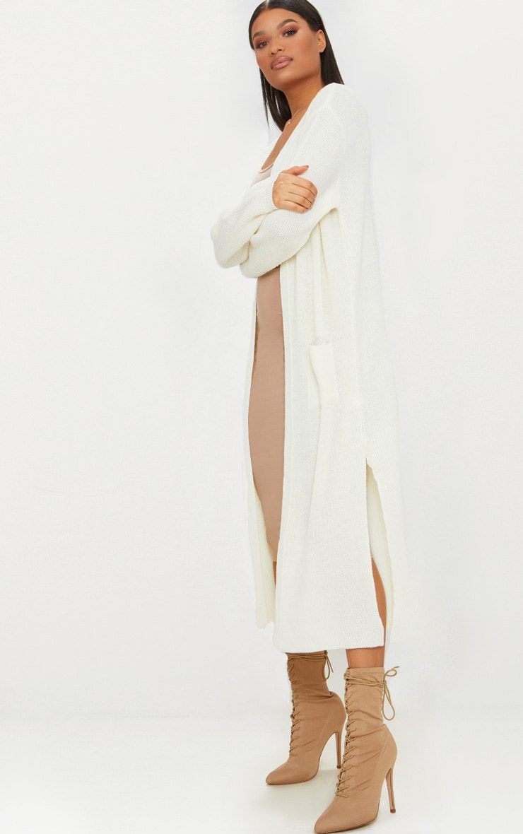 Cream Pocket Front Maxi Cardigan 4