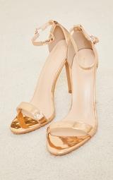 Rose Gold Wide Fit Clover Single Strap Heeled Sandal 3