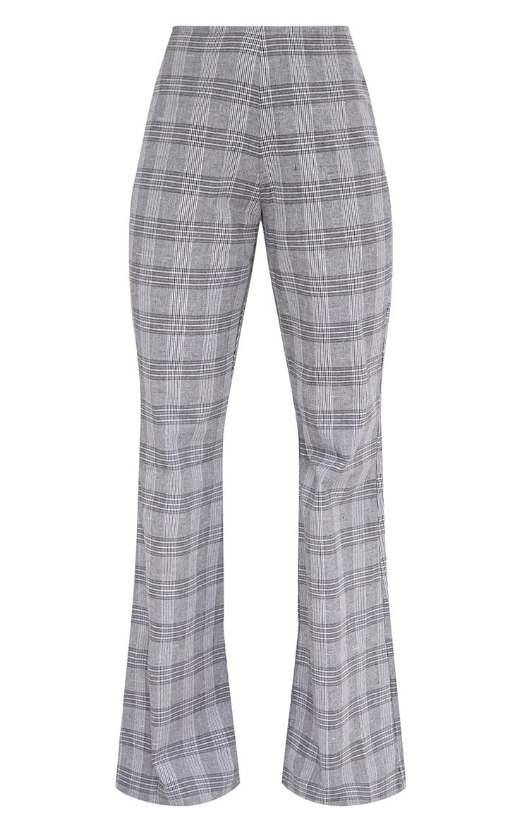 Grey Check Tailored Wide Leg Trousers 3