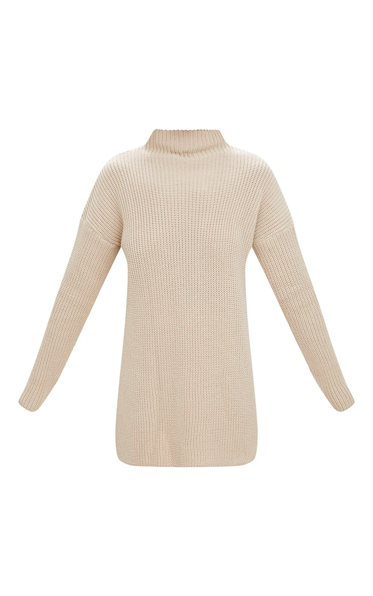 Stone High Neck Knitted Oversized Jumper 3