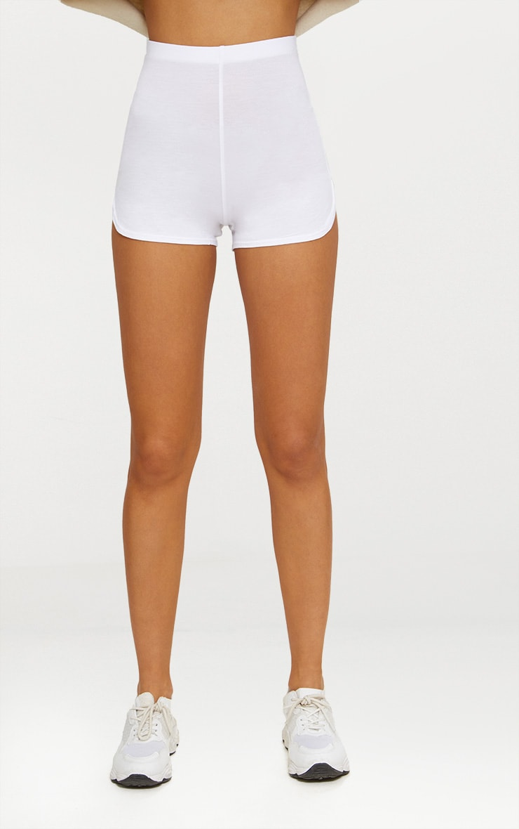 White Basic Runner Short  3
