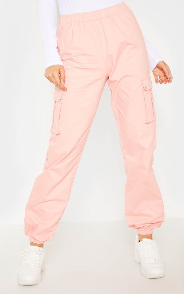 Tall Pink Pocket Detail Cargo Trousers 2