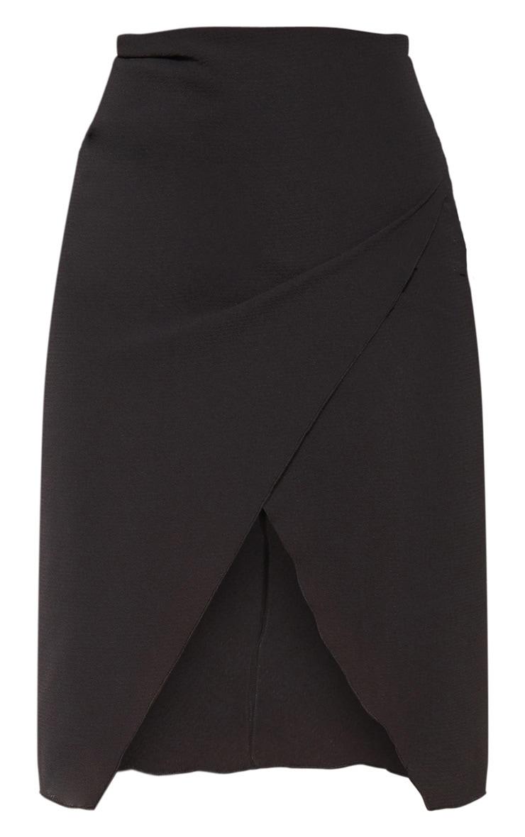 Petite Black Wrap Pencil Skirt 3