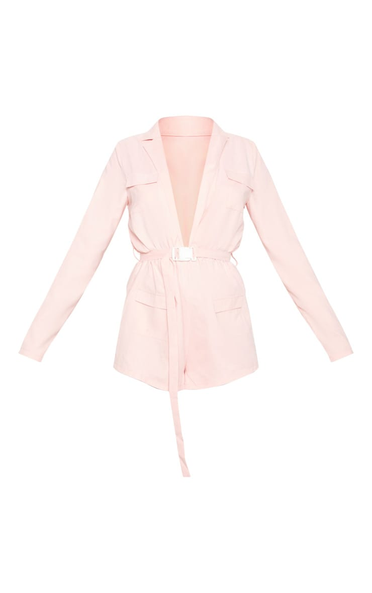 Baby Pink Belt Detail Playsuit 3
