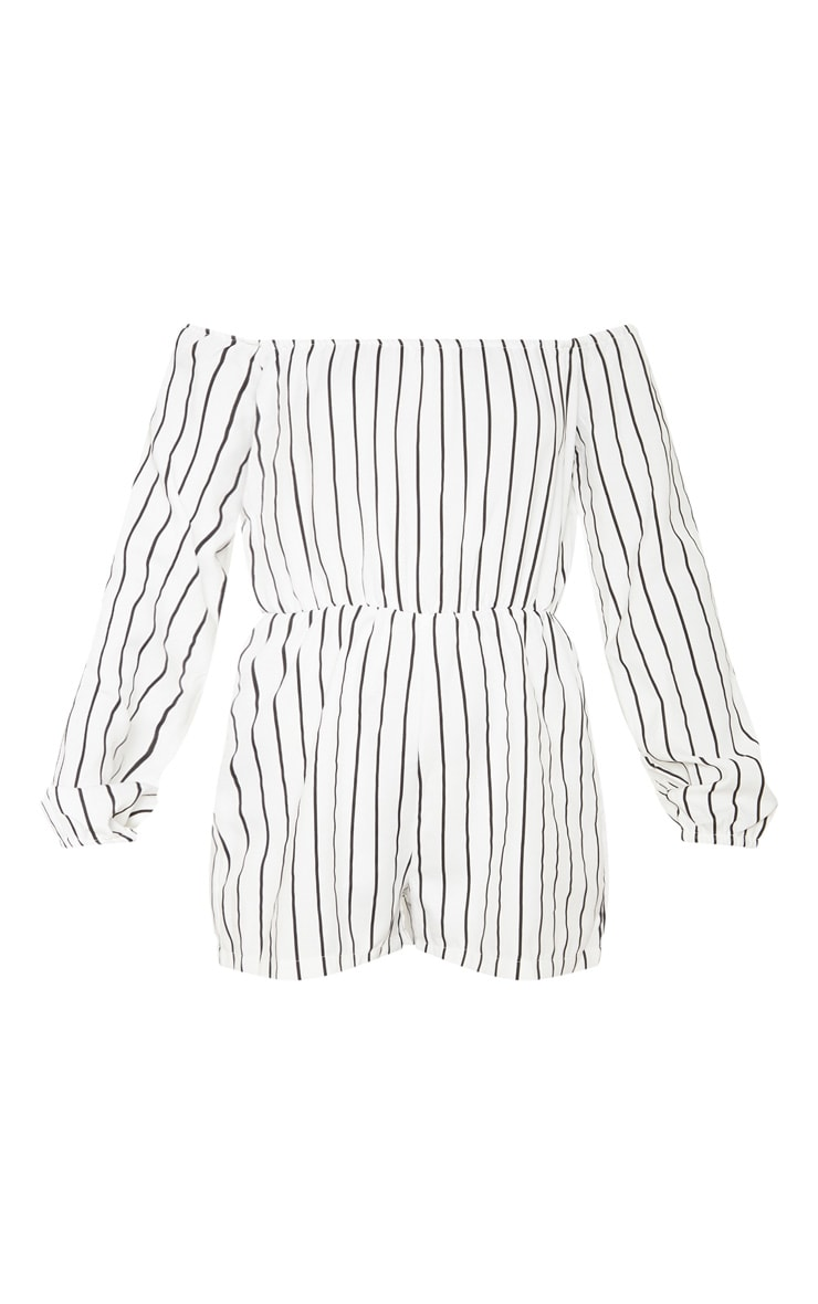 Kennie White Stripe Playsuit 3