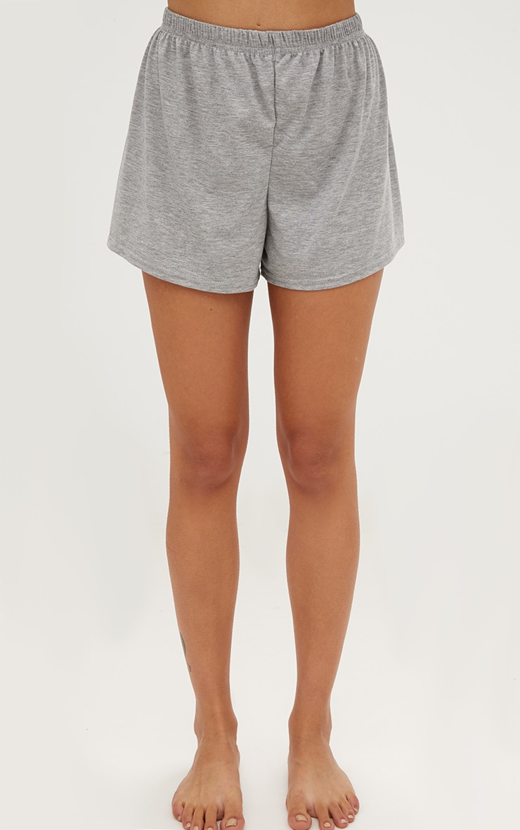 PRETTYLITTLETHING Grey Short PJ Set 4