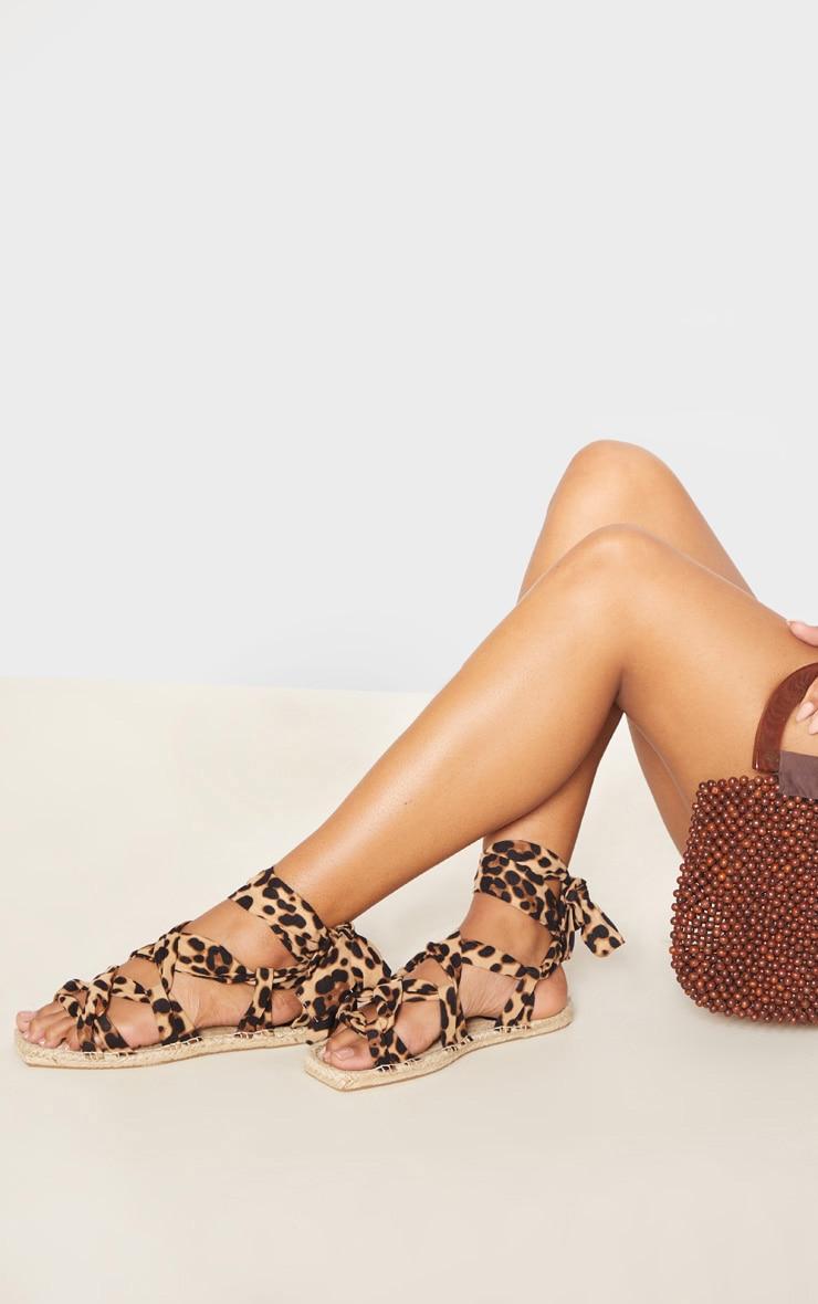 Leopard Espadrille Ghillie Sandal 2