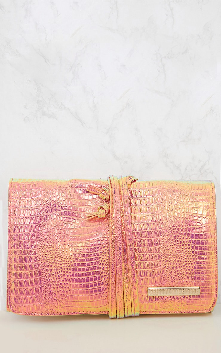 PRETTYLITTLETHING Holographic Make Up Brush Roll