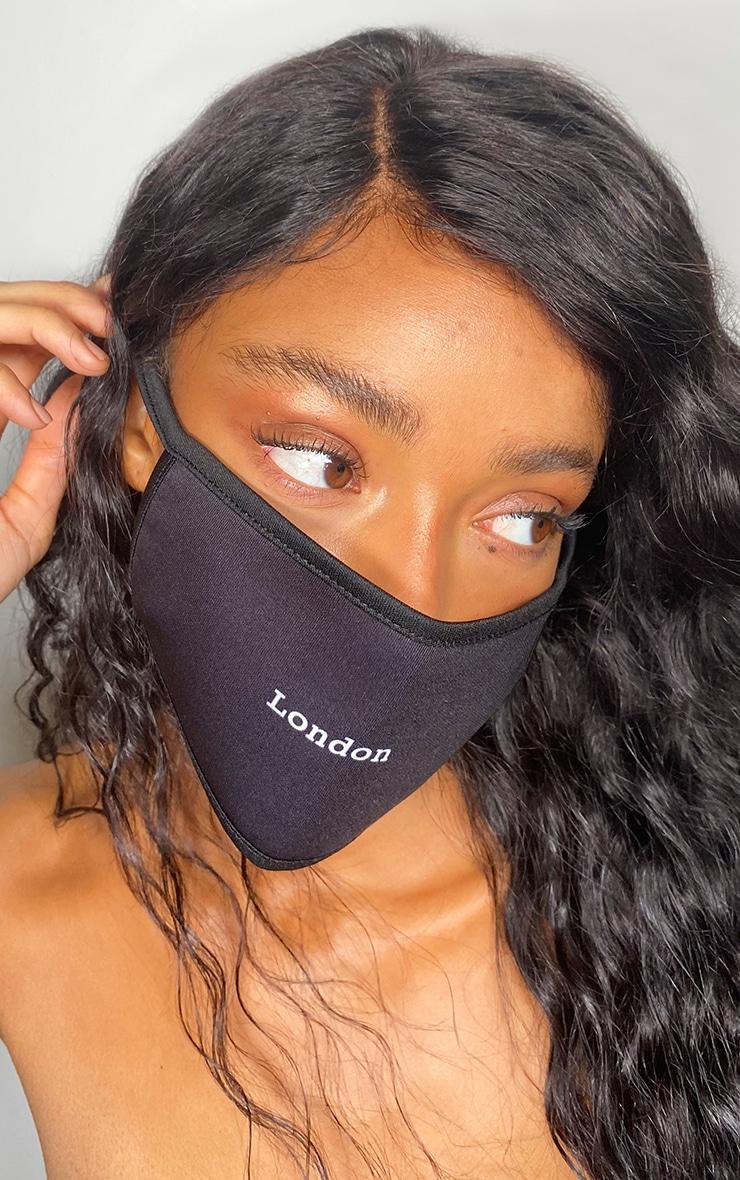 London Black Fashion Mask 1