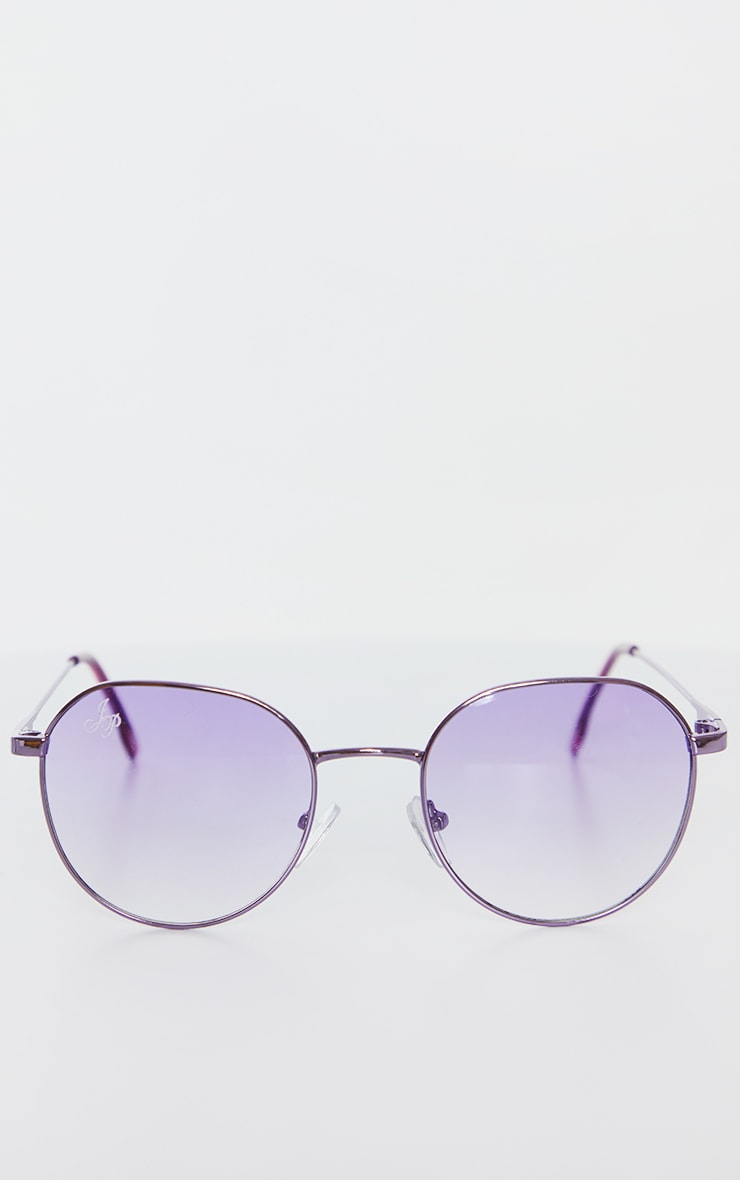 Jeepers Peepers Purple Round Frame Sunglasses 2