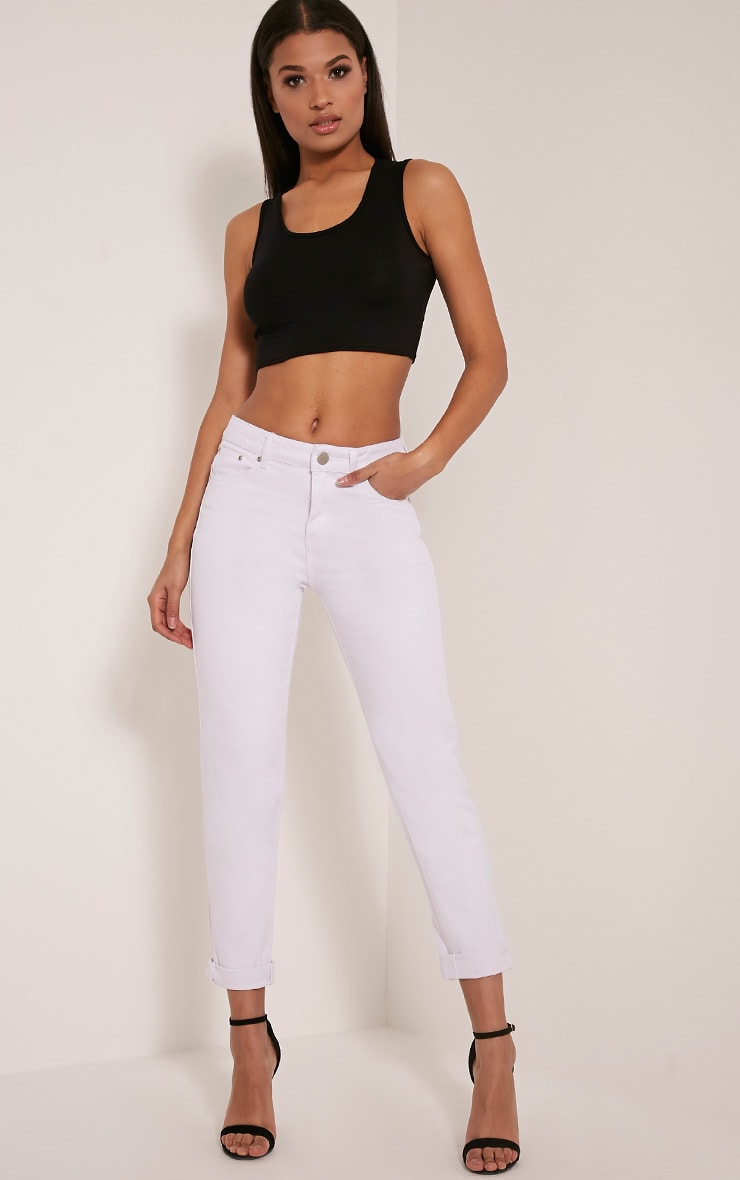 Rebel White Boyfriend Jeans 1
