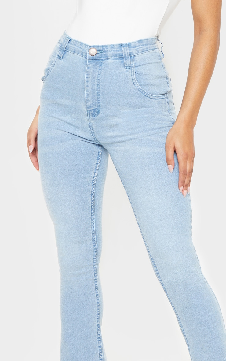 Flared Light Wash Jean 5