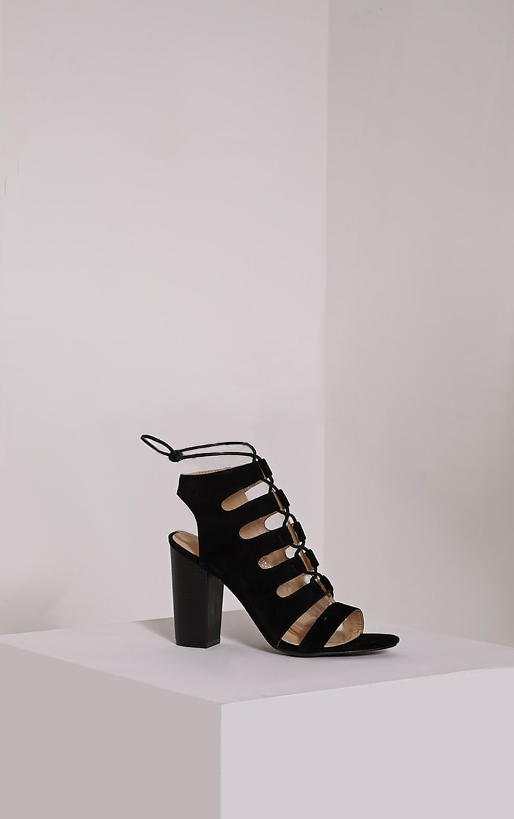 Emerson Black Cut Out Sandals 3