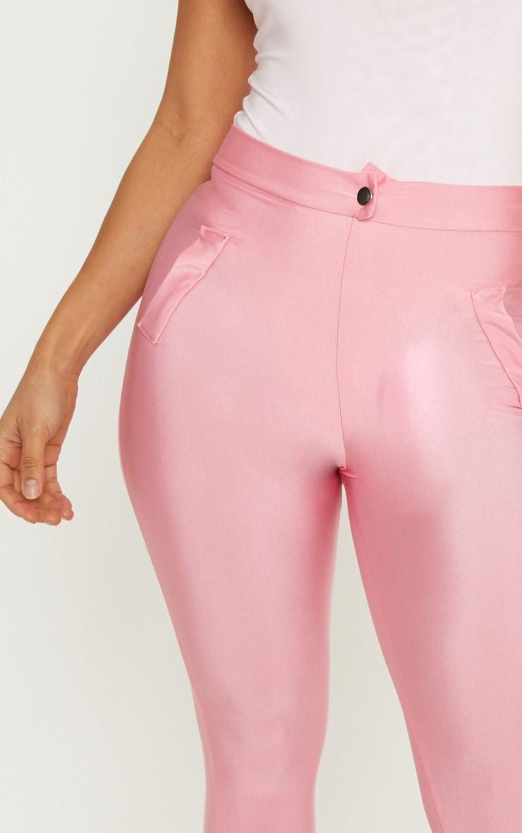 Pink Disco Split Hem Skinny Trouser 5