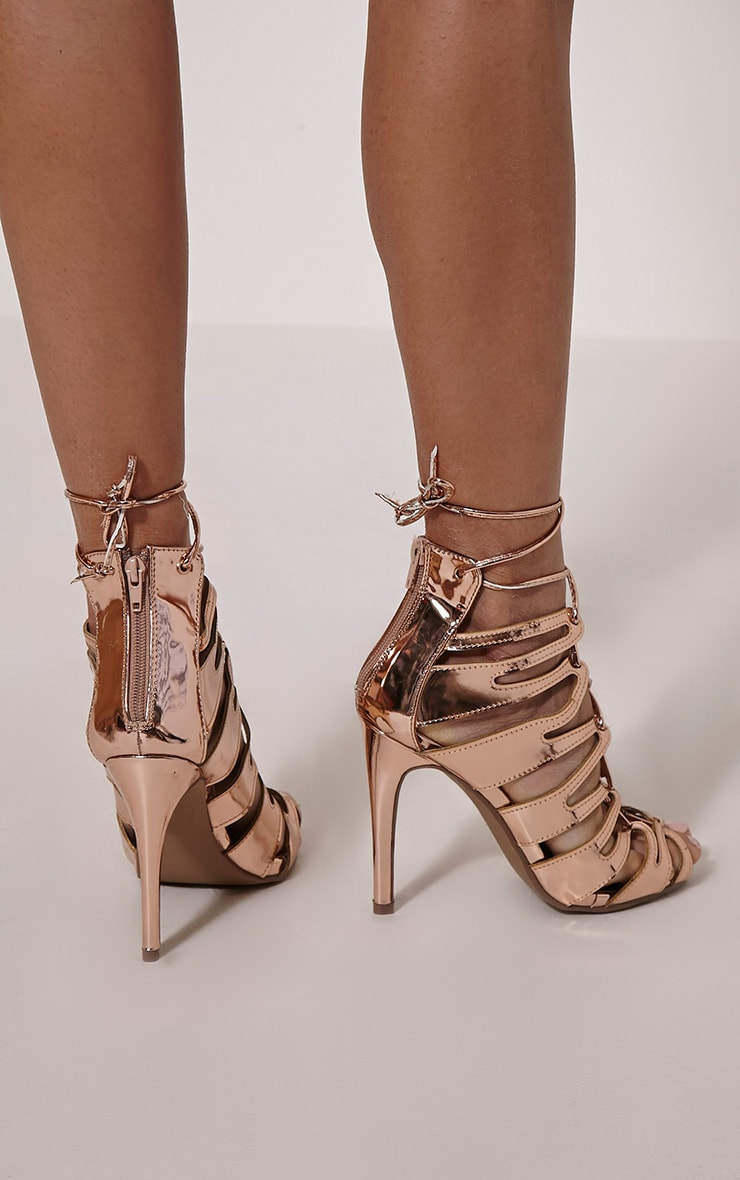 Lizeth Rose Cut Out Heeled Sandals 2