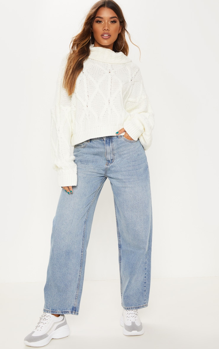 Light Wash Baggy Low Rise Boyfriend Jeans